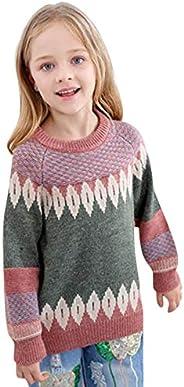 K-youth Suéter de Punto para Niños Niñas Chicas Chicos Ropa Bebé Niña Invierno Ropa De Punto Camiseta de Manga