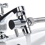 Tecmolog G1/2 Deviatore ottone per il rubinetto della cucina/bagno lavandino o lavandino rubinetto del bagno del rubinetto parte di ricambio,M22xM24, Chrome,SBA021C