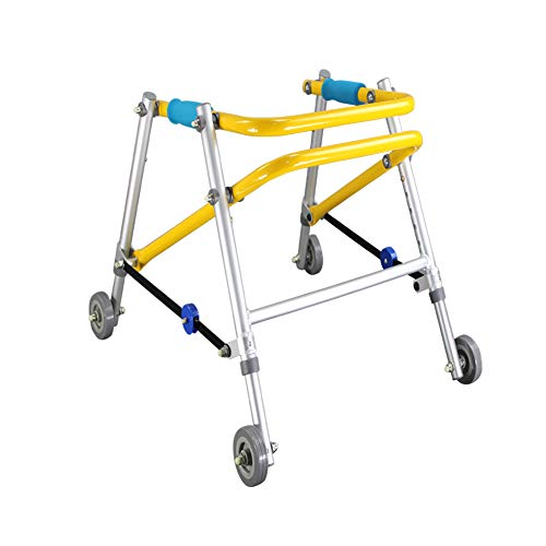 Aluminium 4 Rädern Rollator (Candyana Kinder Mobile Walker 4 Räder Aluminium Klapprollator Höhenverstellbar Kinder Walker)