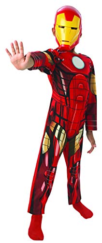 Fancy Ole - Jungen Boy Kinder Iron Man Classic Kostüm aus Avengers Assemble mit Einteiler und Maske, perfekt für Karneval, Fasching und Fastnacht, 128-140, ()