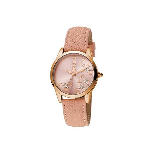 Uhr Just Cavalli Pink Mode Damen Leder Klassisch jc1l042l0035