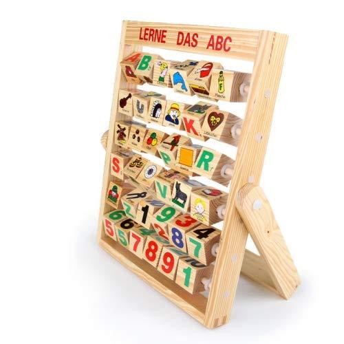Lerne das ABC Spiel Holzspielzeug Lesen Buchstaben Holz Lernspiel Alphabet neu Buchstabentafel Einschulung (Holz Abc Buchstaben)