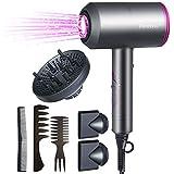 flintronic Professionnel Sèche-Cheveux Ionique, 2000W Sèche Cheveux, 3 Modes Réglables avec 3 Diffuseur Magnétique Convient p
