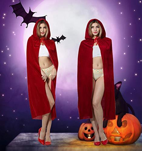 JRKJ Halloween Maskerade Kostüm Hexe Elf Gold Samt Mantel Zauberer