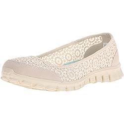 Skechers Ez Flex 2-Flightly, Damen Sneakers, Beige (nat), 40 EU