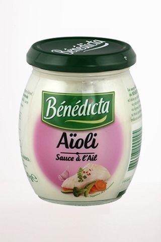Benedicta Gourmet Creamy Garlic Sauce - Sauce Aioli - 8.46 oz by Benedicta