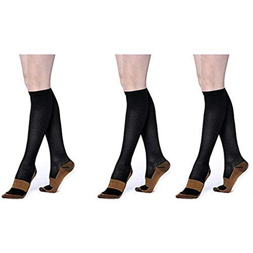 SO-buts 3 PC Männer und Frauen Erwachsene Normallack Laufende Athletische Schlauch Beiläufige Socken Strümpfe, Strümpfe Erwachsene Sportsocken(Schwarz,L) (Athletische Socken Jungen)