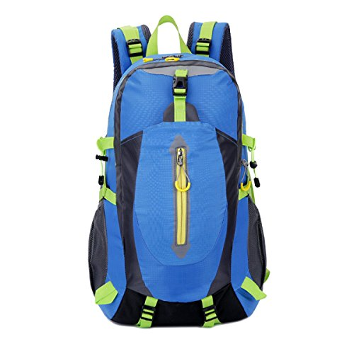 Zaino Tattico 40L Attacco Impermeabile Borsa Xin.S Zaino Bug Out Borsa Da Montagna Trekking All'aperto Trekking Zaino Multifunzionale. 3 Colori Blue