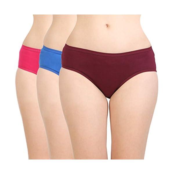 BODYCARE Women's Cotton Classy Panty-Pack of 3