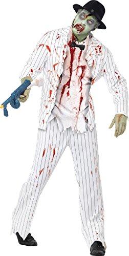 Generique - Déguisement gangster blanc zombie homme Halloween