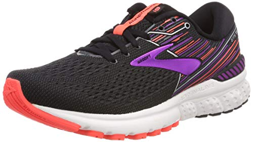 Brooks Damen Adrenaline Gts 19 Laufschuhe, Schwarz (Black/Purple/Coral 080), 38.5 EU