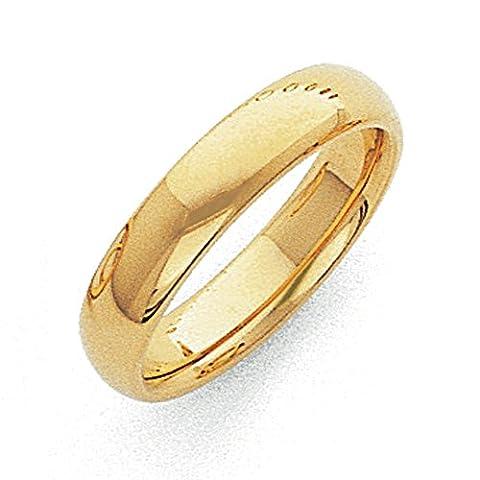14ct 5mm Leichtes Komfortable Passform Größe L 1/2Hochzeit Band Ring