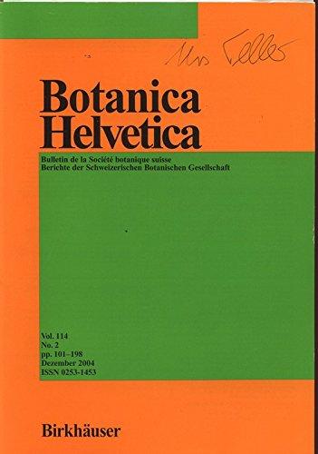flora helvetica Flora auf Bahnhöfen der Nordostschweiz, in: BOTANICA HELVETICA, Dezember 2004.