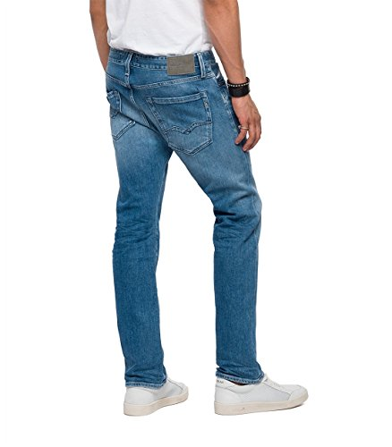 Replay Herren Straight Jeans Waitom Blau (Light Blue 10)