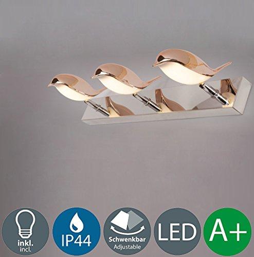 15W LED Spiegellampe Kreative Make-Up Licht Einfaches Modern Wandleuchte Einzigartige Spiegellicht Hochwertigem Spiegelleuchte Winkel Verstellbar Acryl Lampenschirm Dekoration Beleuchtungs Wasserdicht IP44 1050 Lumen