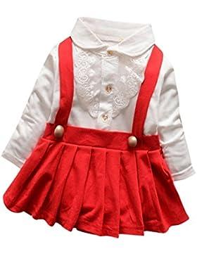 Longra Baby Mädchen Herbst Kleidung mit Lace Langarm T-Shirt Prinzessin Mädchen Kleid Hochzeit Festkleid Partykleider...