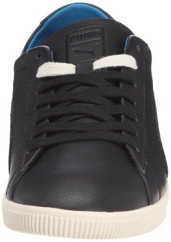 Puma Glyde Leather Low, Baskets mode mixte adulte Noir (2)