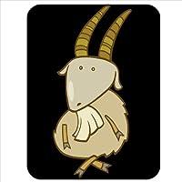 Funny Cartoon Billy capra capra con gambe incrociate, tappetino per il mouse in gomma di ottima qualità, morbido e confortevole