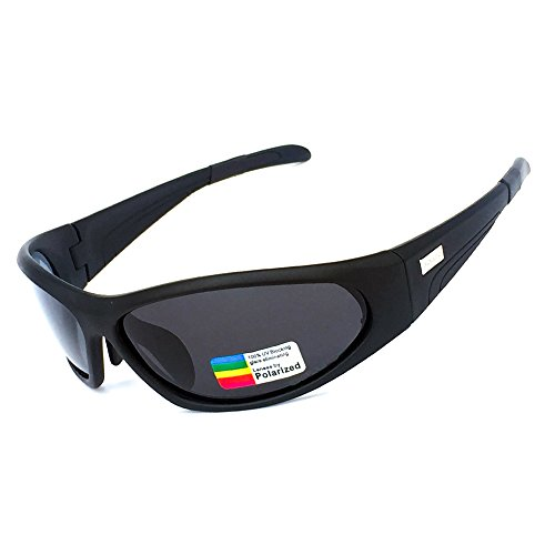 HONCENMAX Polarisierter Sport Sonnenbrille für Baseball Skifahren Golf Laufen Radsport Angeln Reiten Fahren mit Unzerbrechlich Rahmen
