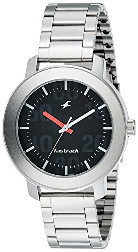 Fastrack Casual Analog Black Dial Men's Watch -NK3121SM02