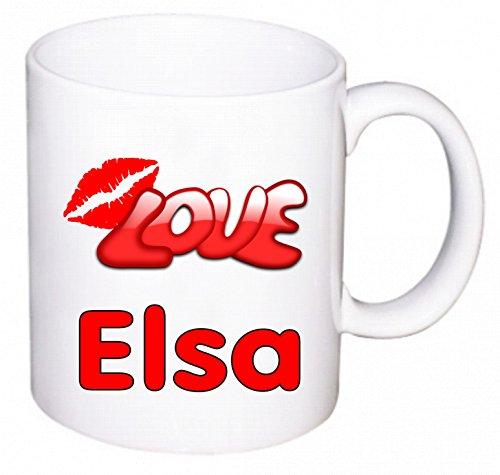 sse bedruckt mit Love Elsa und Kussmund oder individuell nach Ihren Wünschen gestaltbar ()