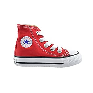 Converse All Star CT Infants Baby Toddlers Canvas Red/White 7j232 (8 M US)