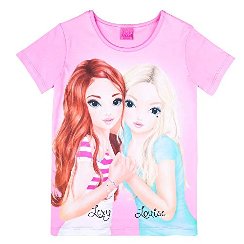 Top Model Mädchen T-Shirt, rosa, pink Größe 128, 8 Jahre