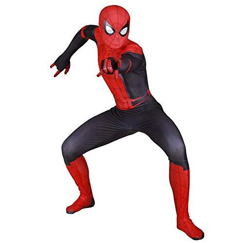 Womens Klassischen Anzug (RNGNBKLS Erwachsenes Kind Spider-Man Kostüm Halloween Cosplay Spiderman Verkleidung 3D Druck Spandex Klassische Anzug Kopfbedeckung Trennungn,Women-M)