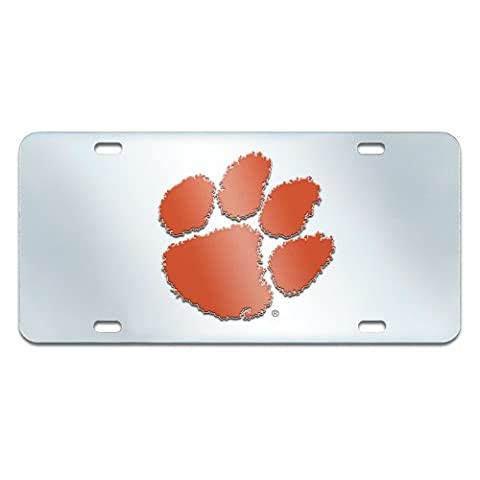 FANMATS NCAA Clemson University Tigers Plastic License Plate (Inlaid) by Fanmats