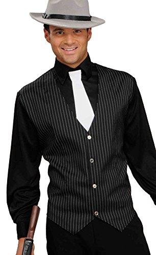 Gangster Mafiaboss Kostüm - shoperama Gangster Set - Hemd Weste Schlips für Mafioso Mafiosi Mafiaboss Kostüm Gr. M/L