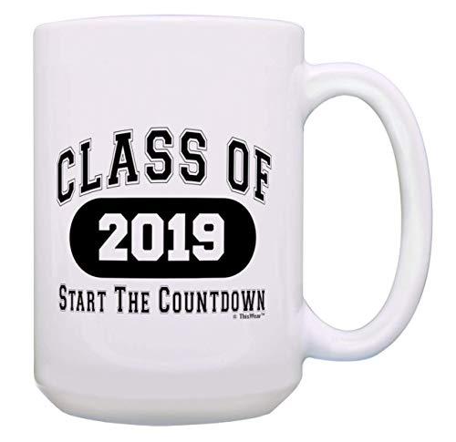 s of 2019 Countdown Senior Graduation Mug Gift 11 oz Coffee Mug Tea Cup White ()