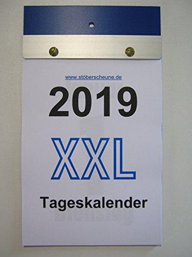 Tageskalender XXL Großdruck DIN A 5 2019 ca 25 x 14,5 cm, Abreisskalender mit grossen Zahlen