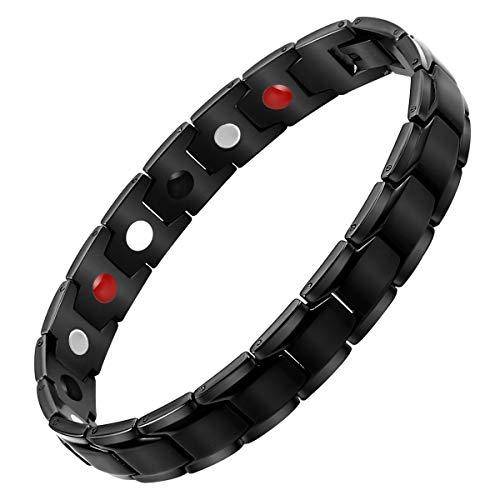 ReinesTitan Magnettherapie Armband für Männer mit Klappschließe