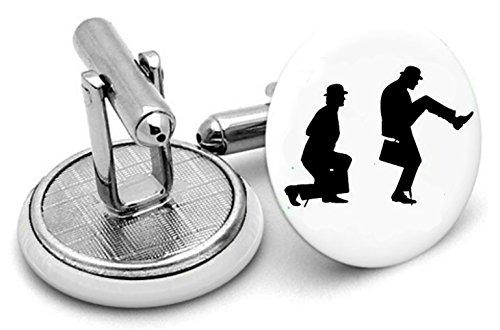 Ministère de Silly Walks type Boutons de manchette et pince à cravate, Monty Python Bijoux, Monty Python, boutons de manchette. Monty Python Bijoux