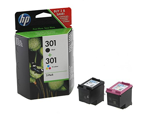 HP N9J72AE#301 301 - 2-pack - black colour (cyan magenta yellow) - original - blister - ink cartridge - for Envy 4500 - (Consumables > Ink and Toner Cartridges)
