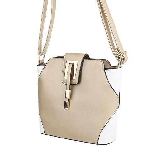 Ital-Design, Borsa a spalla donna Oro Bianco
