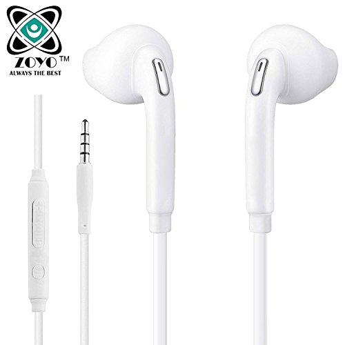 Zoyo Stereo Earphone Compatible with Samsung, Motorola, Sony, Oneplus, HTC, Lenovo, Nokia, Asus, Lg, Coolpad, Xiaomi, Micromax and All Android Mobiles with 3.5mm Jack In-Ear Headphone Headset With Mic