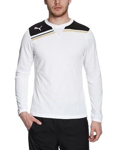Puma T-shirt manches longues King, pour homme Blanc white-black Medium