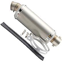 MagiDeal Silenciador 51mm Tubo de Escape Pieza de Reemplazo para 125-600cc Motocicleta - Titanio