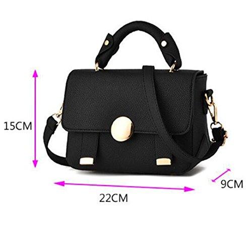 HQYSS Borse donna Marea spalla mano Messenger Bag semplice Wild quadrato piccolo pacchetto , circle deep purple bag mirror round black bag