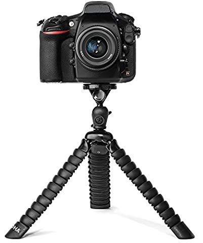 LOHA Flexible Tripod for DSLR, Mirrorless, and SLR Cameras by LOHA, Extra Large Size Supports Many Camera Types with Zoom or Telephoto Lens, Ball Head and Level Bundle for framing the perfect shot