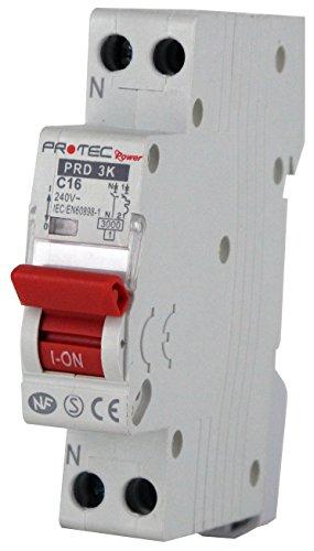 Disjoncteur PROTEC 16A - Disjoncteurs de protection contre les surintensités pour installations...