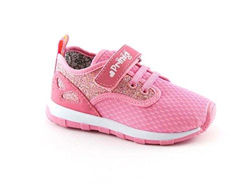 PRIMIGI 72572 rosa elastische Träne Mädchen Schuhturnschuh Stoff Pailletten Rosa