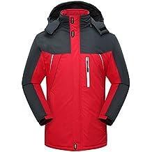 Sawadikaa Hombre Chaqueta de Esquí Alpinismo Al Aire Libre Impermeable Chaqueta de Nieve Lana Capa Excursionismo Ropa de Deporte