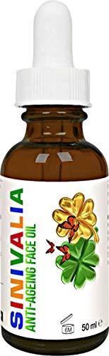 SINIVALIA Anti-Aging Öl - Ätherische Öle Mischung - Anti-Falten Feuchtigkeitscreme Reich an Vitamin E, C - Hautpflege für Trockene, Empfindliche, Fettige Haut, Gesicht Massage - Nachtcreme, Eye Cream