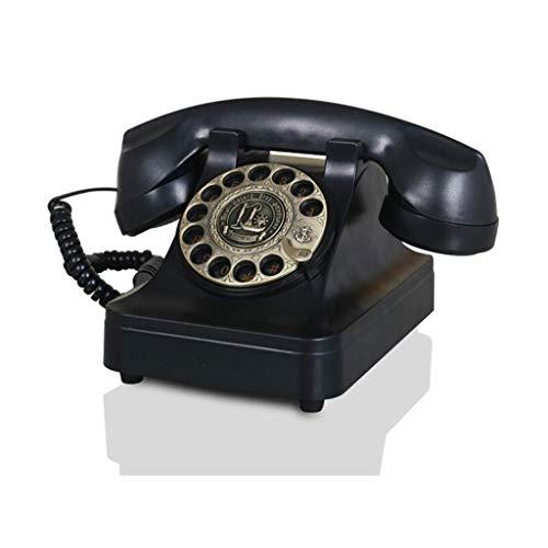 Liuyu · Lebendes Haus Mechanisches Klingeln Retro- Telefon-Art- und Weisekreativer Drehscheibe freihändig Rückruf-Art europäisches Hirten-Innenministerium 4 Farbe 13cm * 13.5cm ( Color : Black ) 13 Telefon