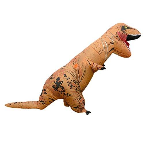 Erwachsene T-Rex Aufblasbares Kostüm Halloween Kostüm Funny Fancy Dress Braun (T Rex Kostüm Für Erwachsene)