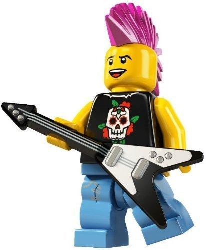 LEGO 8804 - Sammelfigur Punker aus Serie 4 (Minifigur Lego Gitarre)