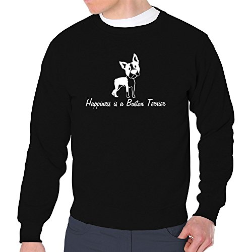 Eddany Happiness is a Boston Terrier Sweatshirt Boston Terrier Sweatshirt