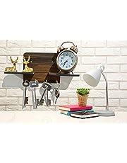 Metvan 4 Hook Wall Mounted Key Holders with Shelf/Decorative Multipurpose Hanging Stand(31 cm x 12.5 cm x 0.4 cm, Brown)